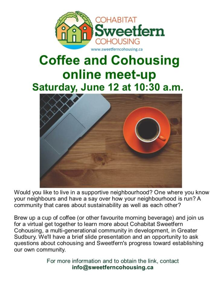 coffee and cohousing flyer june 2021